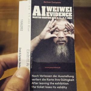 Ai Wei Wei's Evidence