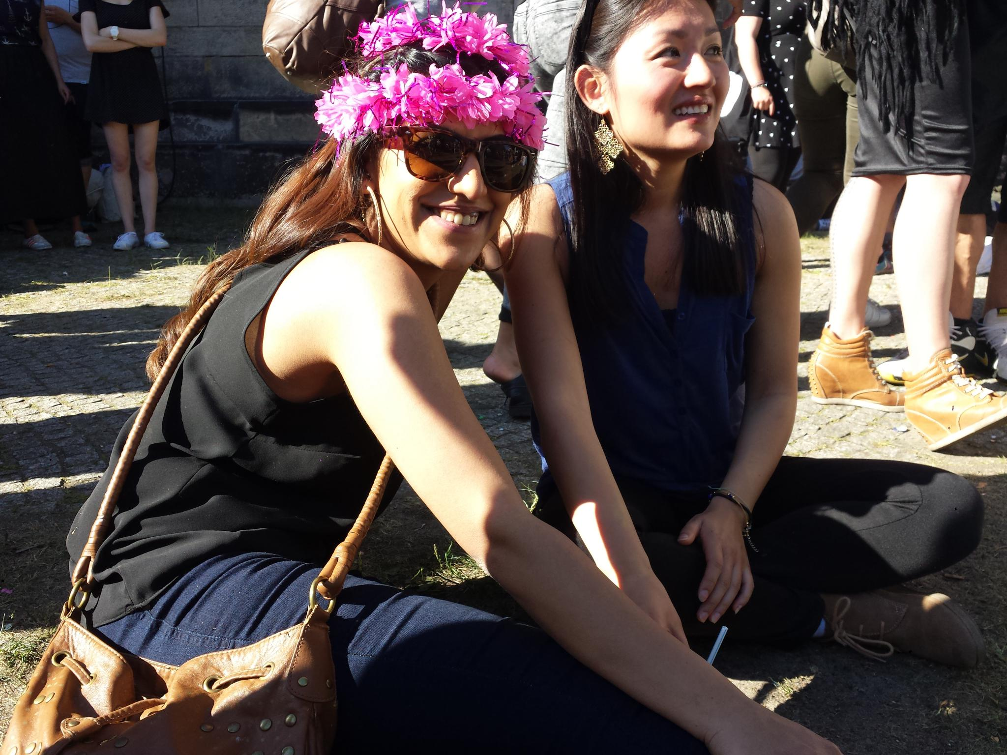 Spaß auf dem Karneval der Kulturen