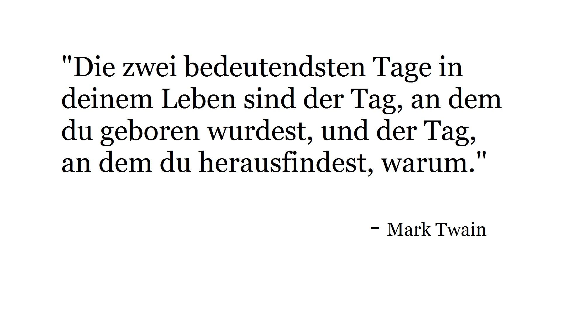 Zitat Mark Twain