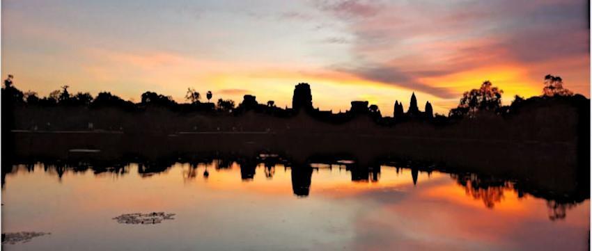 Ankor Wat Sonnenuntergang