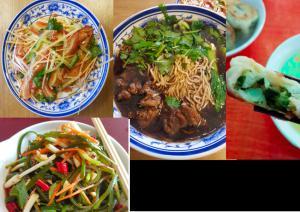 Fotokollage mit diversen chinesischen Gerichten